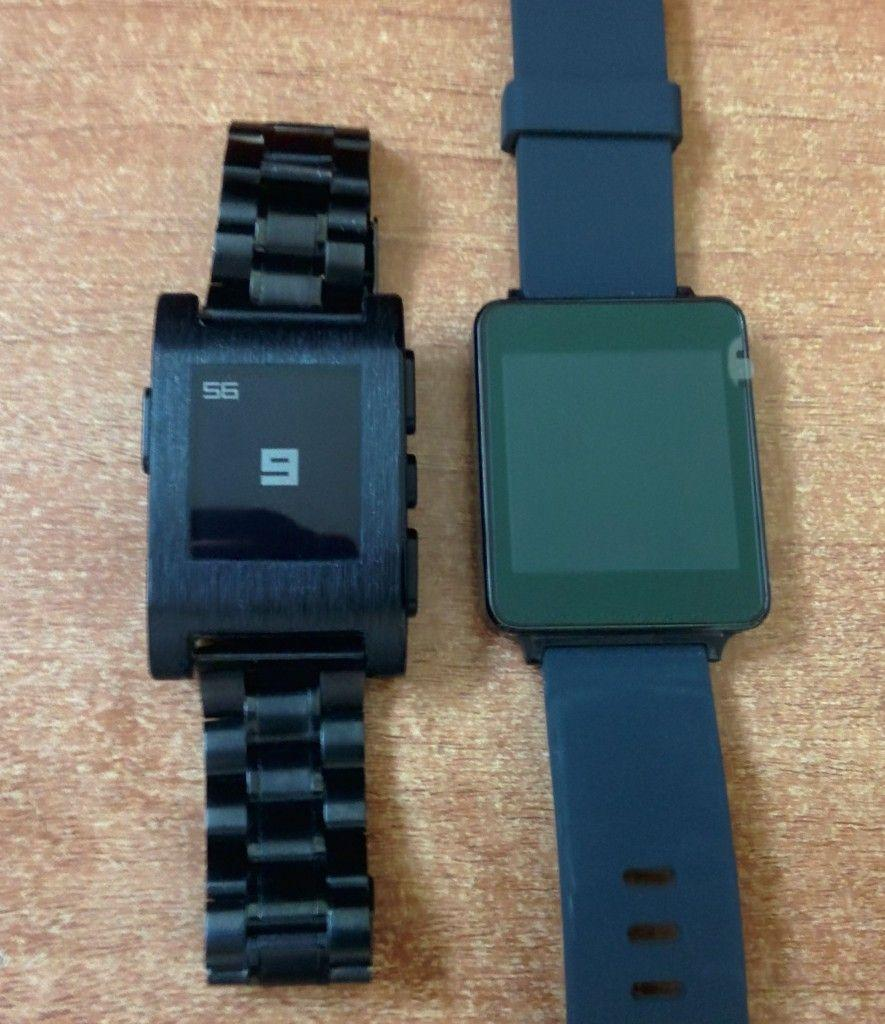 lg g watch e pebble