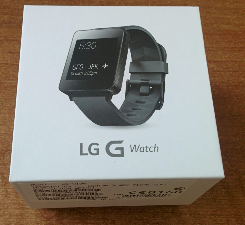 lg g watch scatola
