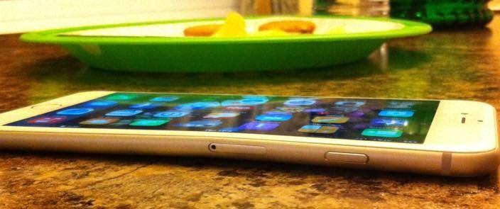 iphone 6 plus inclinato