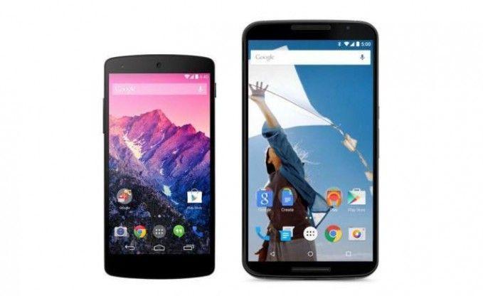 Nexus 6 vs Nexus 5 front