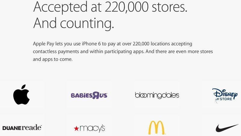 apple pay rivenditori