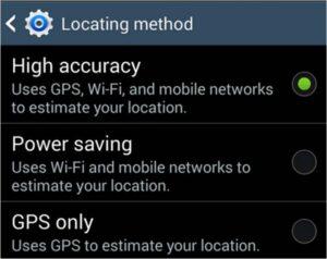 cambiare le impostazioni di posizione su Android