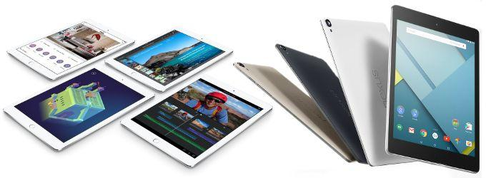 ipad air 2 contro nexus 9 confronto