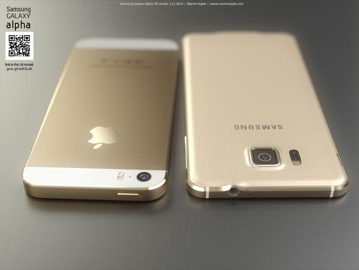 samsung galaxy-alpha-vs apple iphone6-5