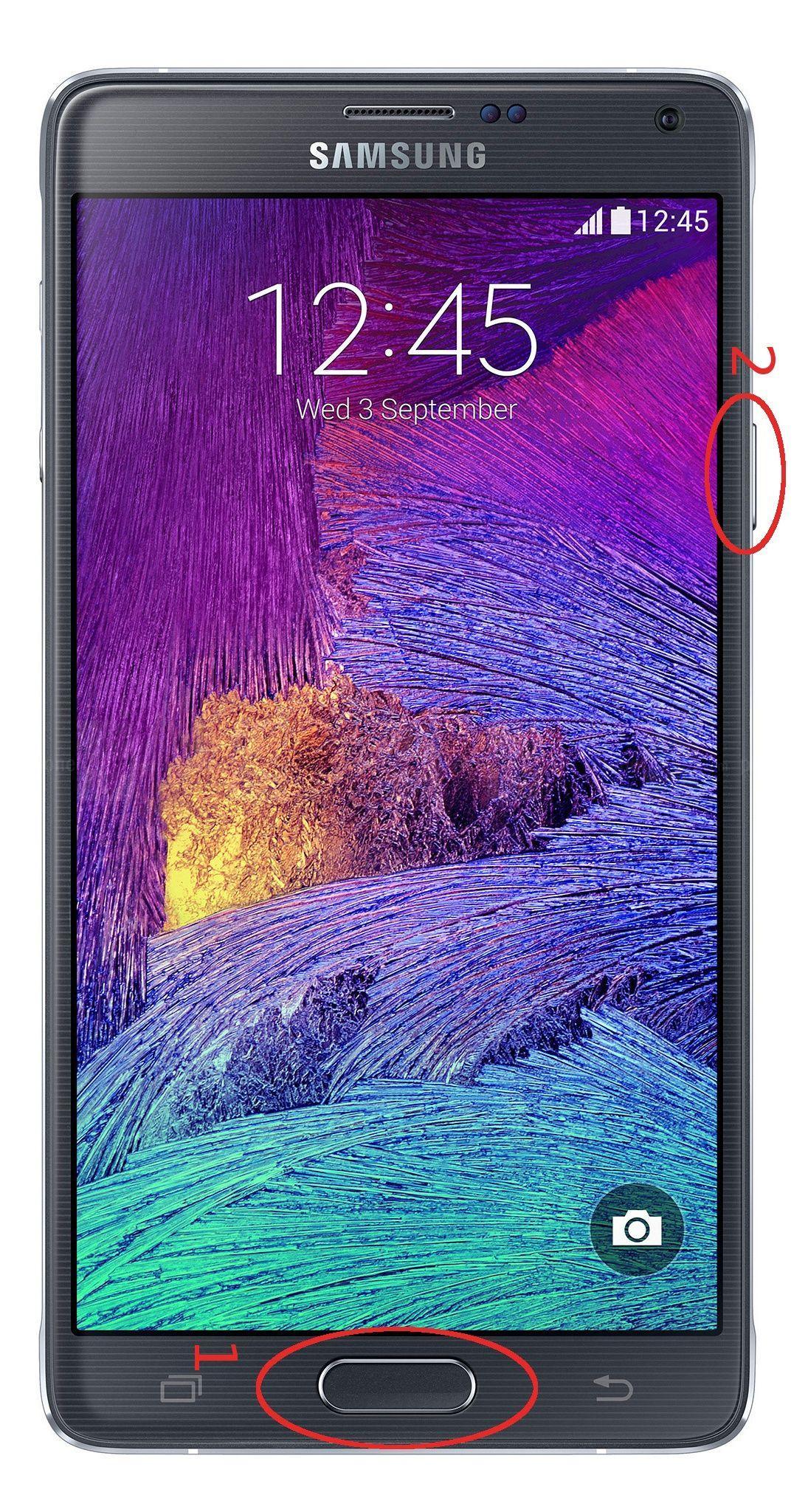 tasti per screenshot galaxy note 4
