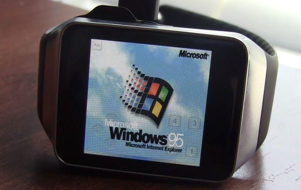 Windows 95 e Doom in esecuzione su Gear Live