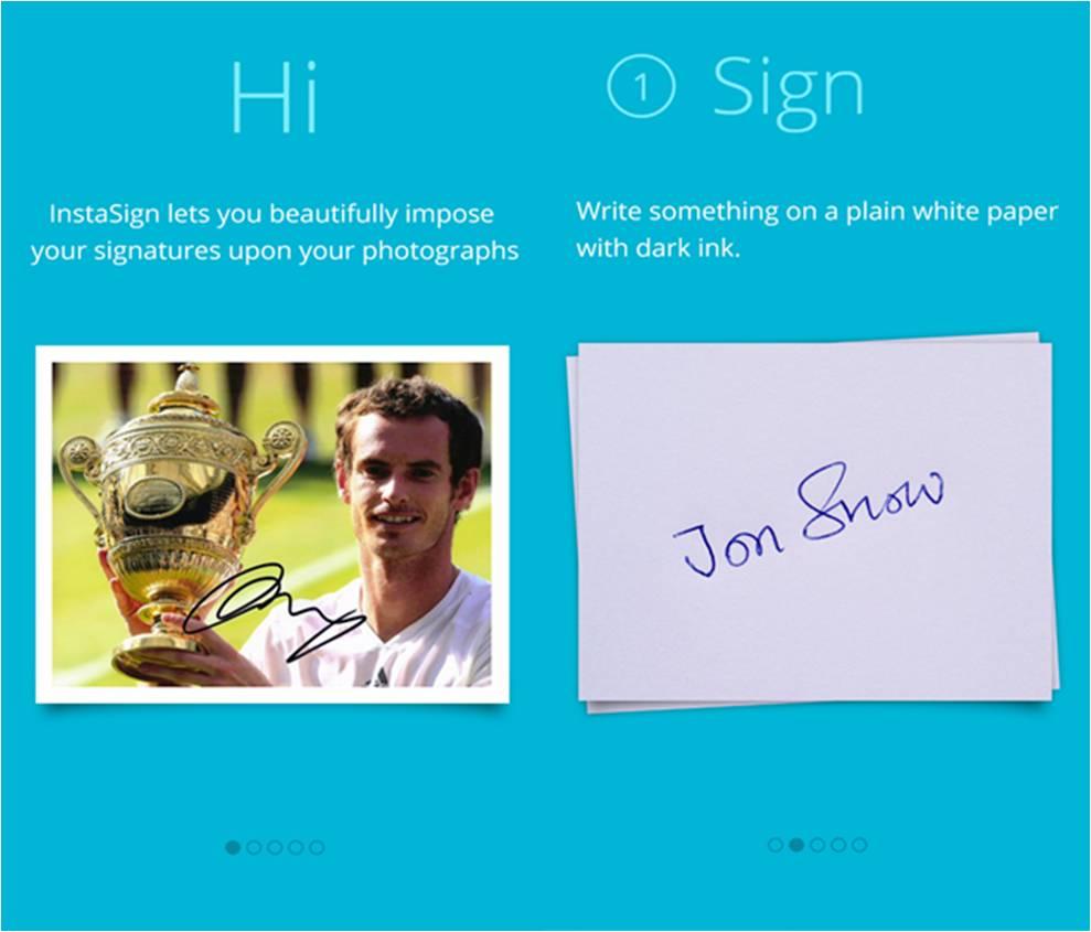 InstaSign migliori app di fotografia per Windows Phone