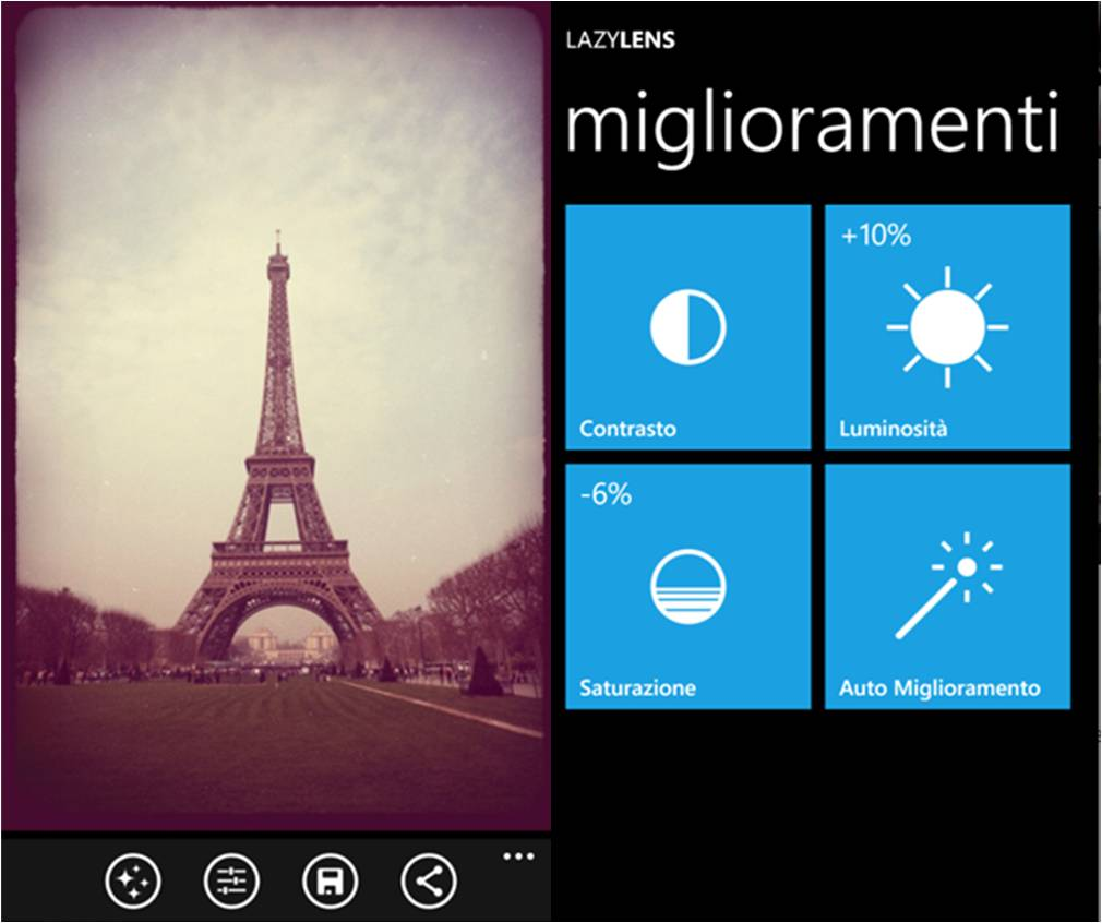LazyLens migliori app di fotografia per Windows Phone
