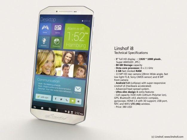 Linshof i8 Linshof i8: uno smartphone davvero incredibile