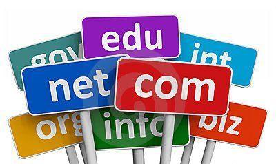 cartello estensioni per siti web