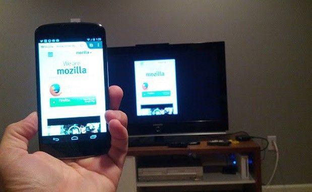 fare mirroring di pagine web da Firefox di Android su Chromecast