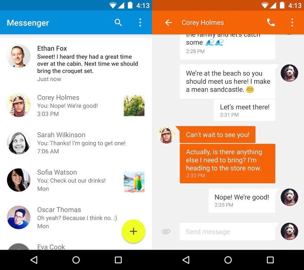 material-design-google-messenger