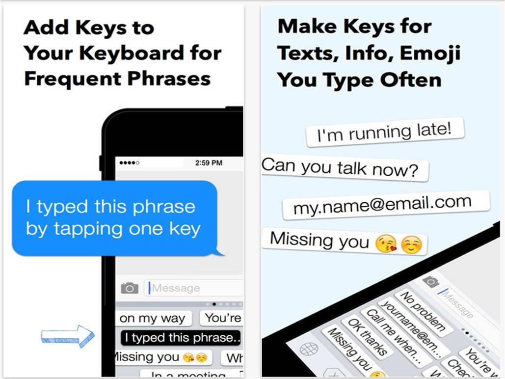 My Phrases Keyboard migliori tastiere per iPhone