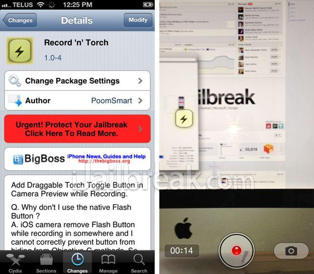 flash di iphone record_and_torch