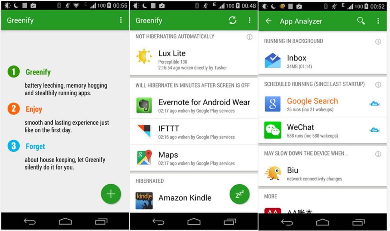 ibernare applicazioni Android con Greenify