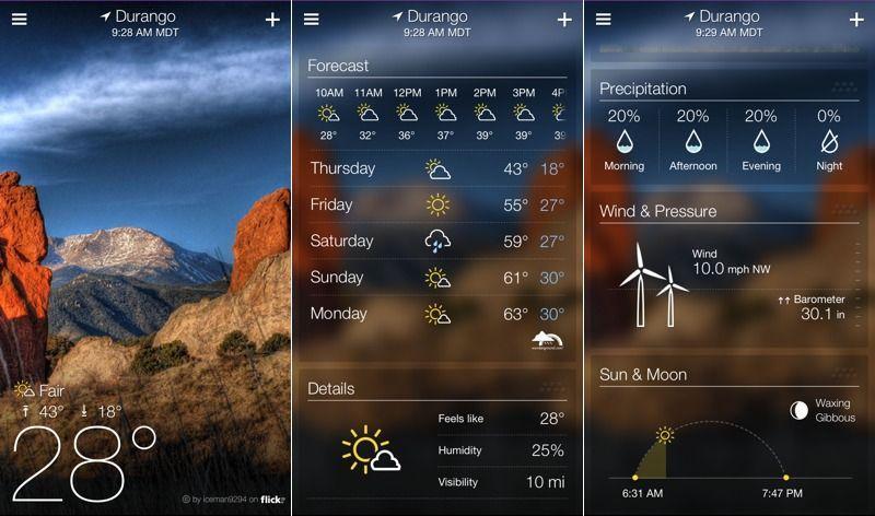 yahooweather migliori app meteo per android