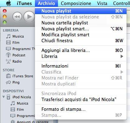 Come creare playlist su iTunes (1)