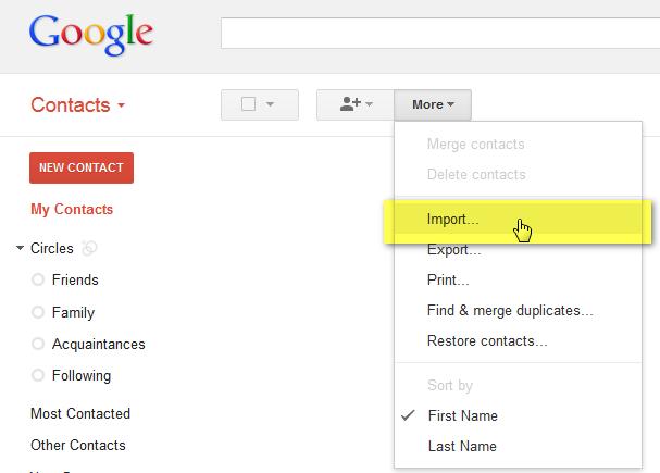 importare VCF su Gmail (1)