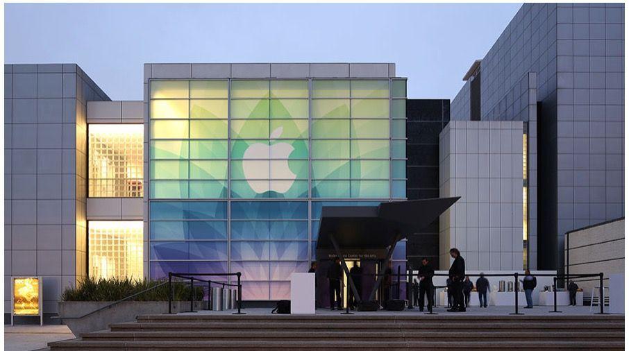 Allo Yerba Buena Center è tutto pronto per l'evento Apple.