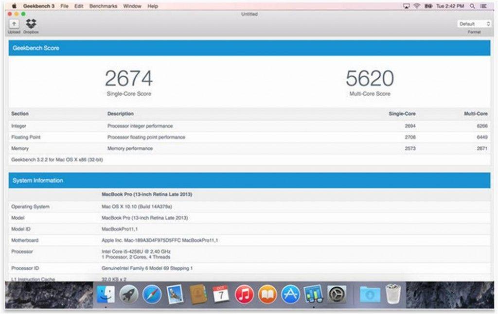 Geekbench 3 utility per Mac da scaricare