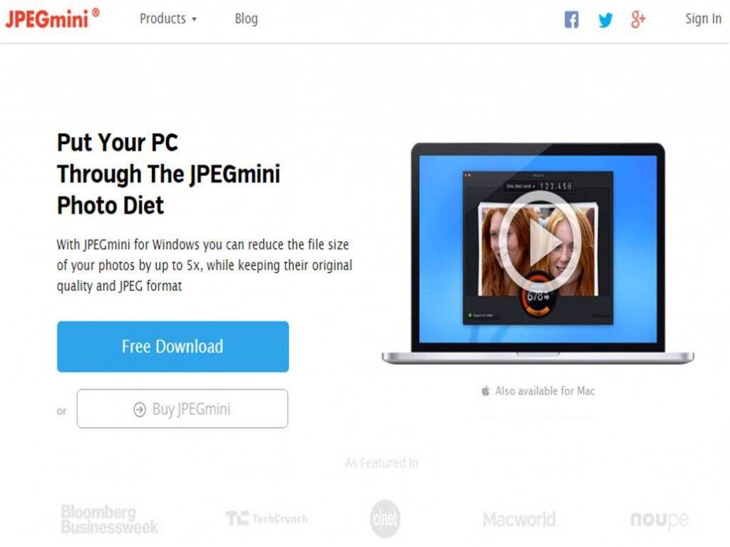 JPEGMini migliori software per rimpicciolire immagini