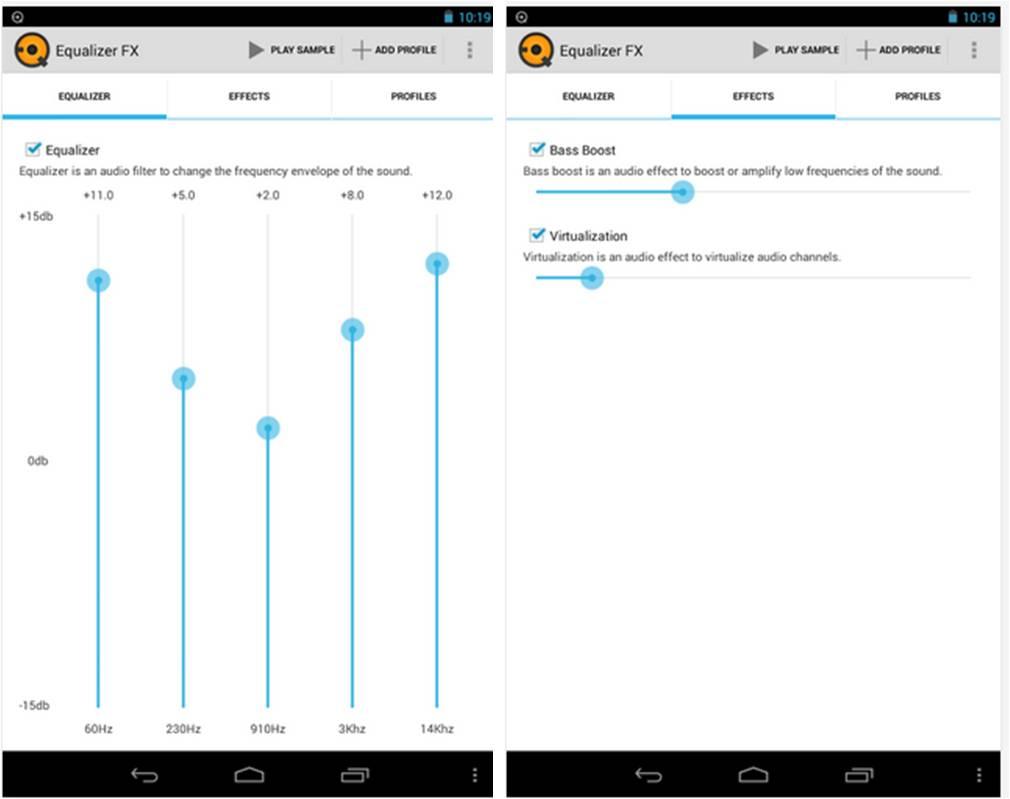 Equalizer FX migliori equalizzatori per Android