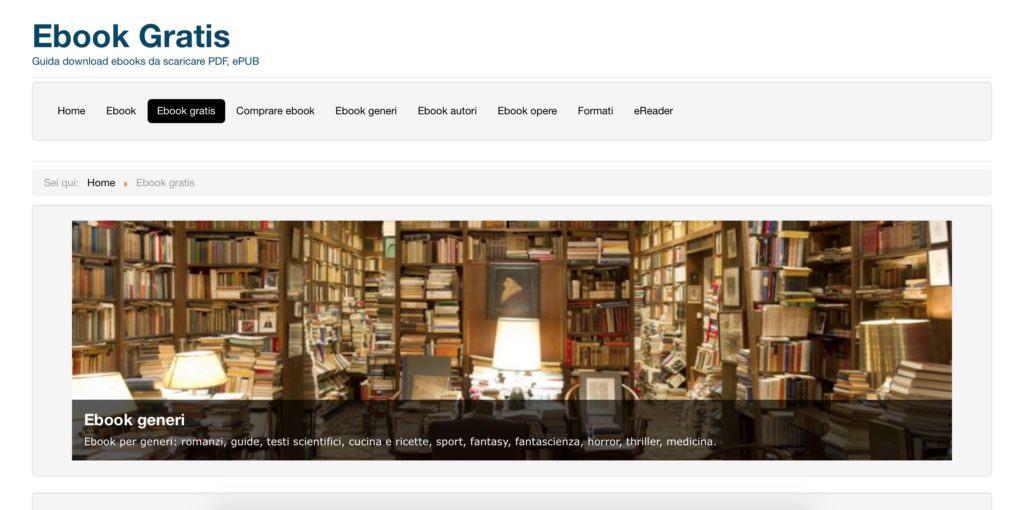 ebook gratis è il miglior sito italiano per scaricare libri gratis sul vostro PC o e-reader.
