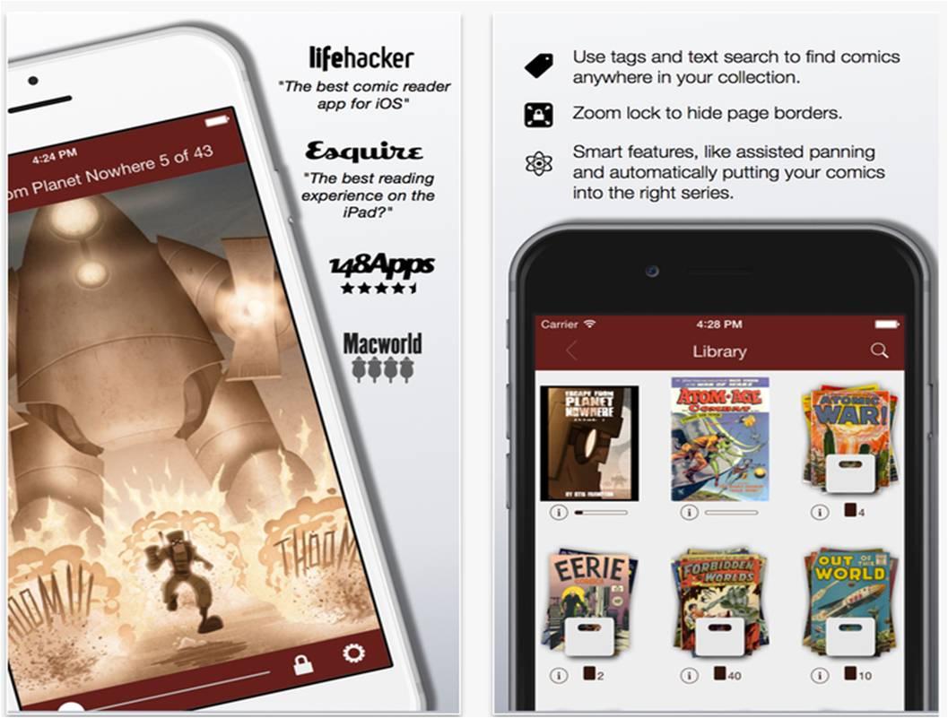Comic Zeal le migliori applicazioni per leggere fumetti da iPad