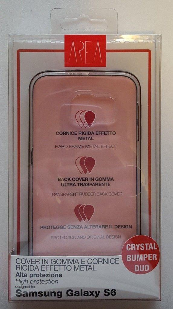 Crystal Bumper DUO Area per Galaxy S6 confezione