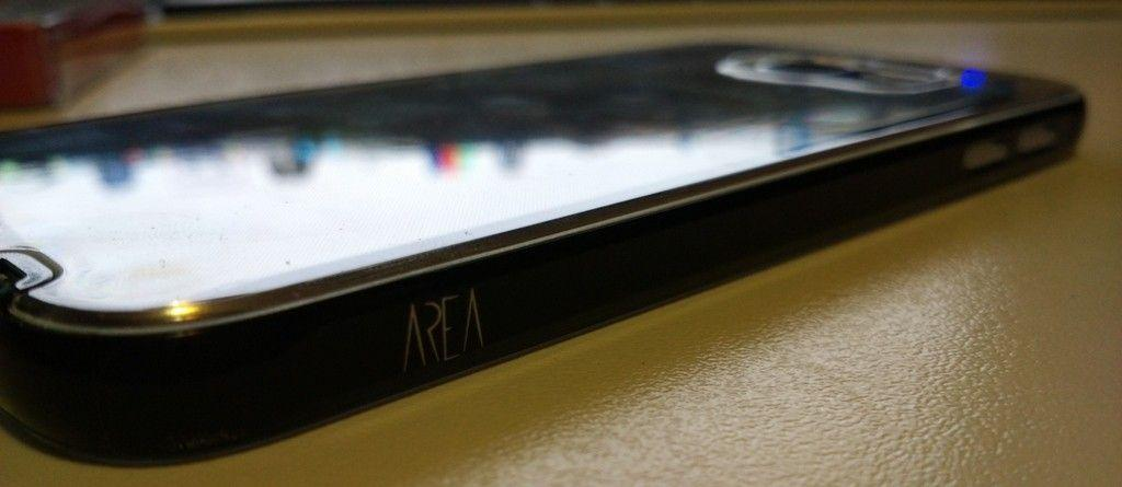 Crystal Bumper DUO Area per Galaxy S6 lato con brand