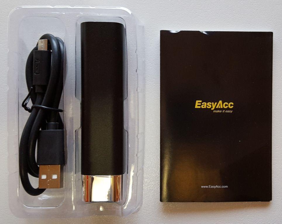 EasyAcc Metallo 3000mAh Power Bank_contenuto confezione