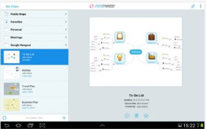 MindMeister (mind mapping) mappe cognitive su Android