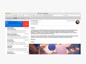 Swipe nelle mail OS X 10.11 El Capitan