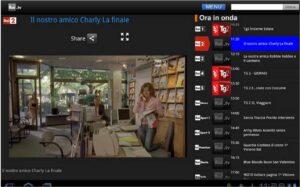 guardare la tv su Android Rai.Tv