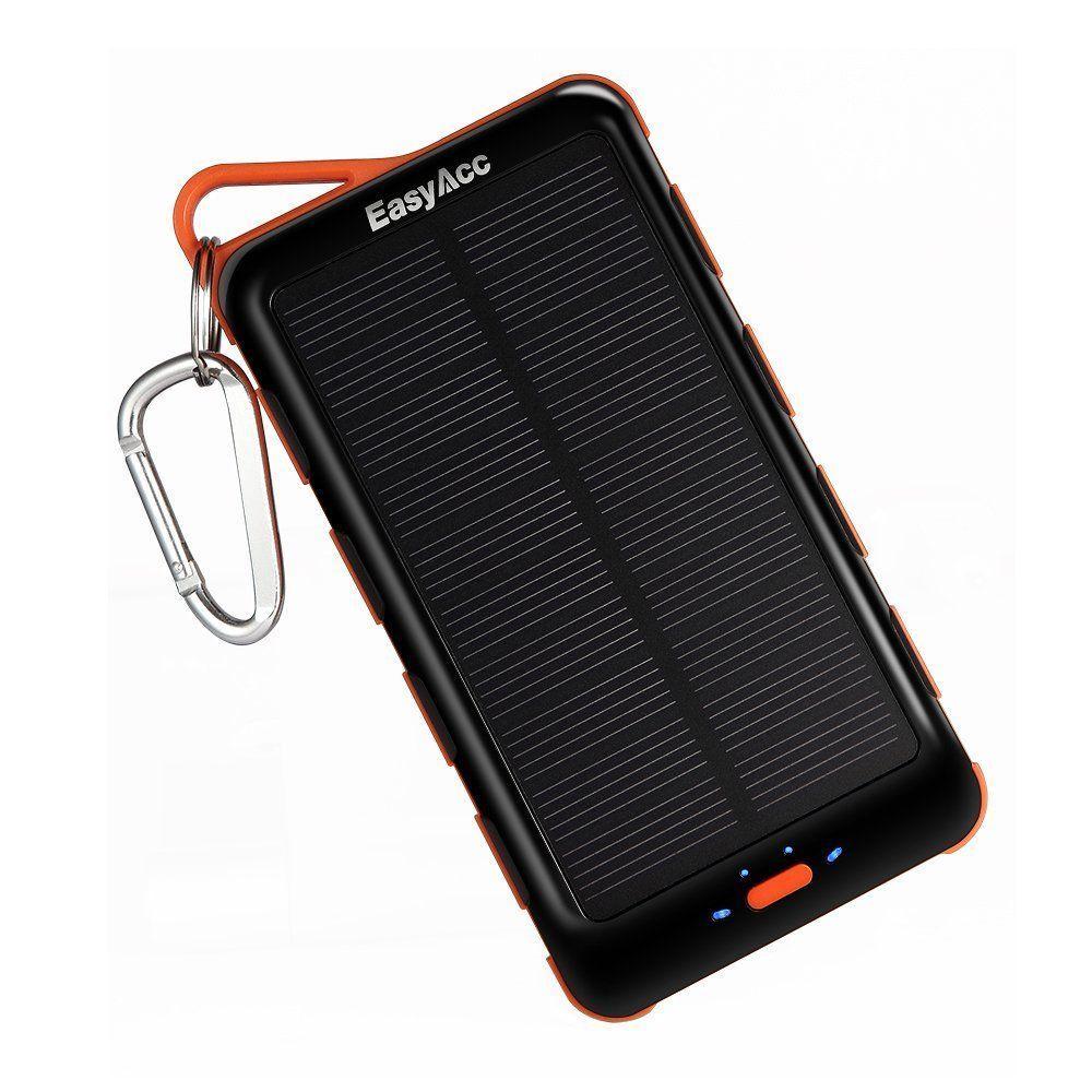 EasyAcc 15000mAh Solar Power Bank  fronte e pannello solare