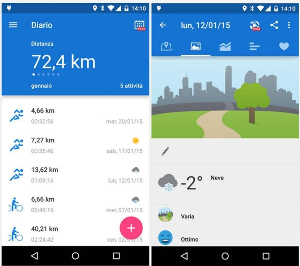 Runtastic migliori applicazioni per stare in forma per Android-1