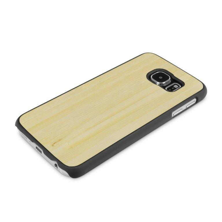 Samsung Galaxy S6 Woodback Snap Case Bamboo retro inclinato