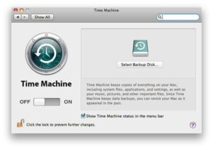 backup Time Machine selettivo