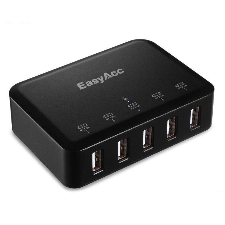 EasyAcc 40W 5V 8A 5-Port USB