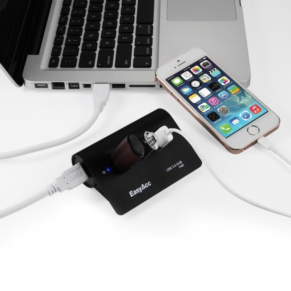 EasyAcc Super Speed USB 3.0 4 Port Hub con mac