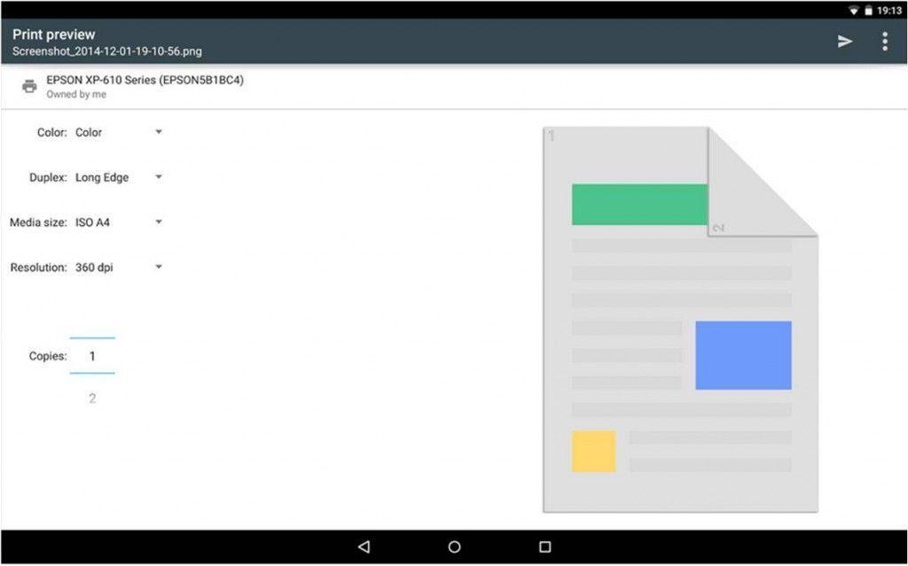 come stampare da Android Cloud Print