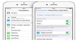 disabilitazione automatica download iPhone