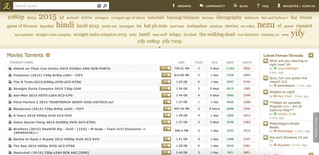 kickass torrent è il degno erede di the pirate bay per il download dei torrenti