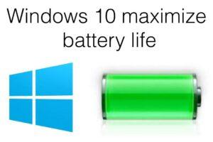 Risparmio batteria su Windows 10
