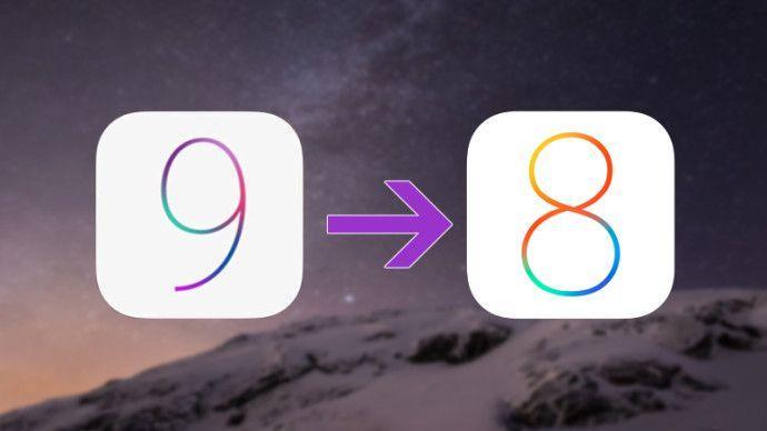 iOS 9 to iOS 8