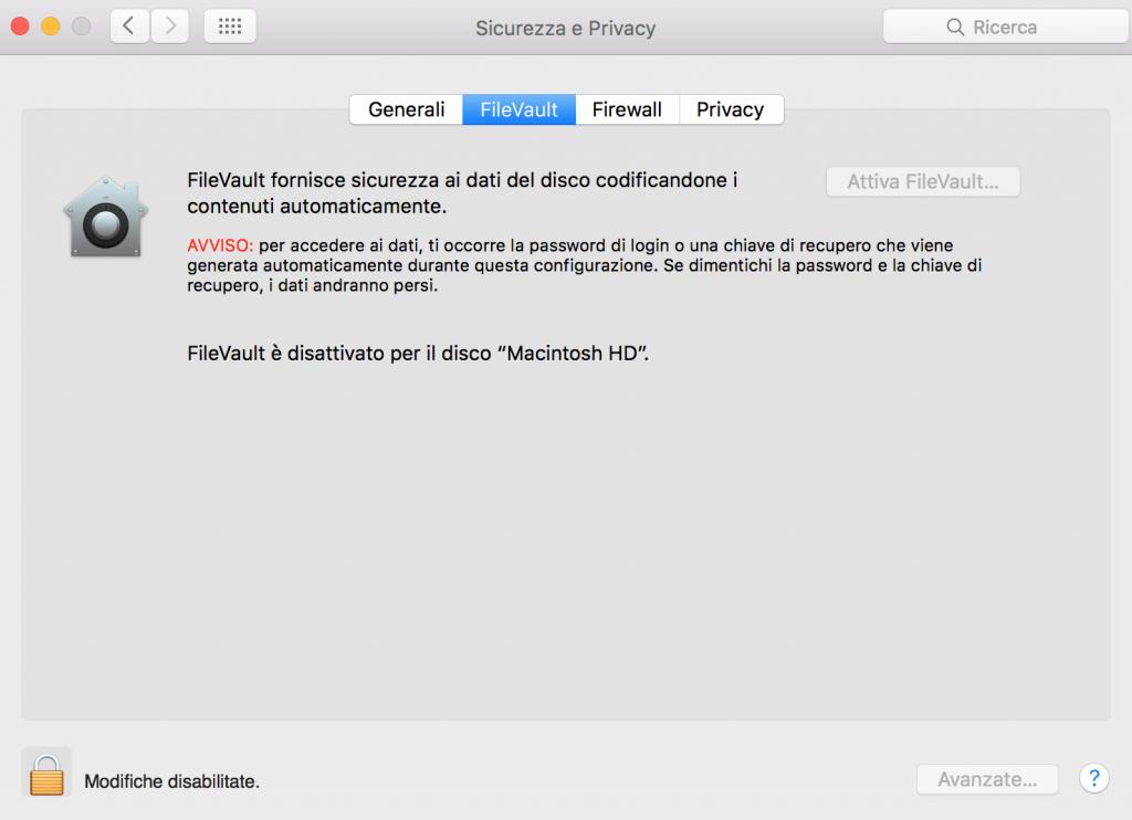 Come abilitare il login automatico su OS X El Capitan passaggio 2