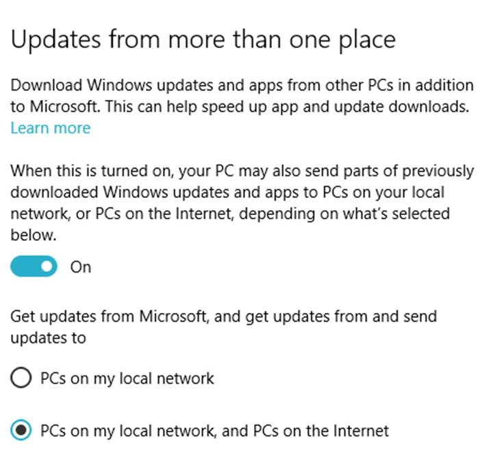 come bloccare gli update automatici di Windows 10