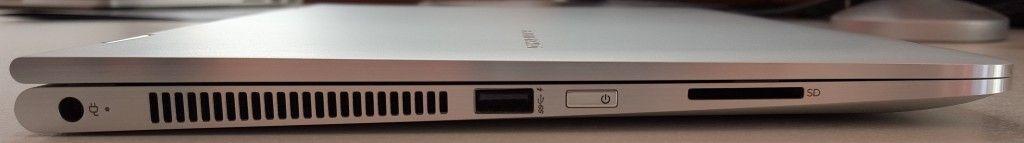 HP Spectre X360 lato sinistro