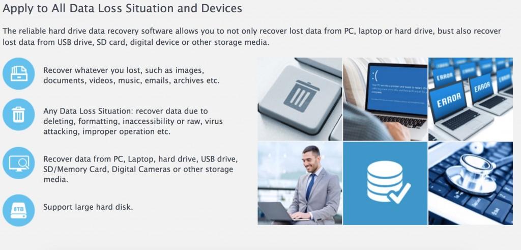 funzioni easeus data recovery
