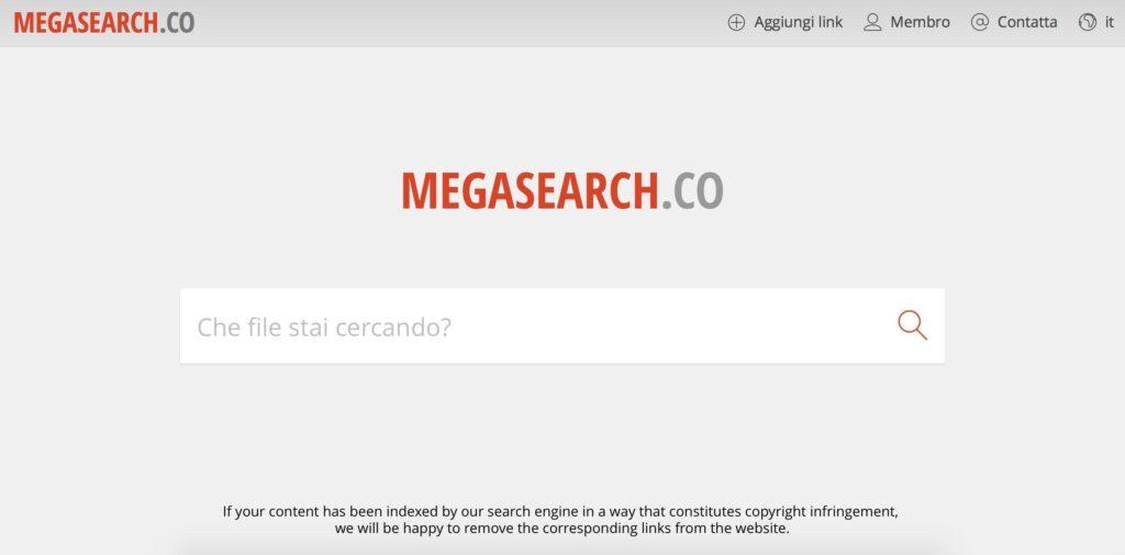 come usare megasearch per trovare file su mega